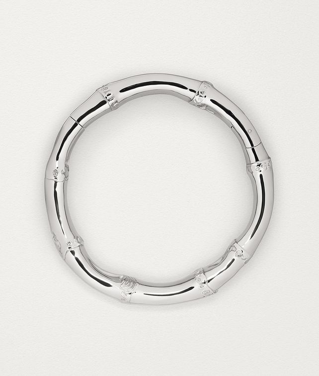 BOTTEGA VENETA NECKLACE IN STERLING SILVER Necklace Woman fp