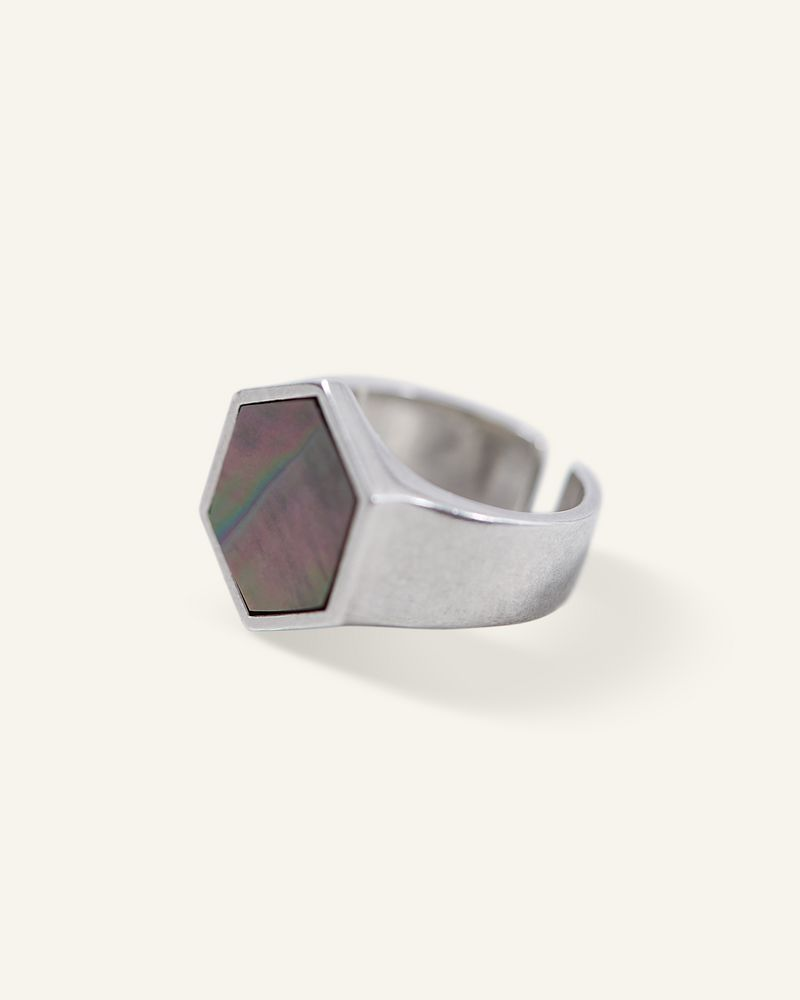 SILVER MOTHER RING ISABEL MARANT