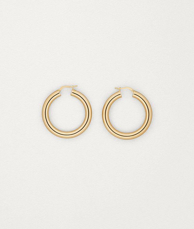 BOTTEGA VENETA EARRINGS IN GOLD-PLATED SILVER Earrings Woman fp