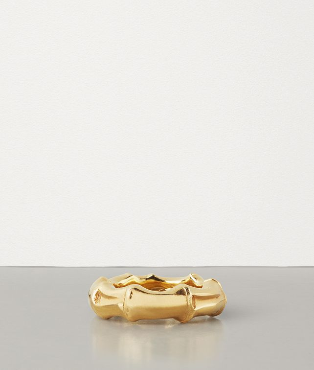 BOTTEGA VENETA RING IN GOLD-PLATED SILVER Ring Woman fp