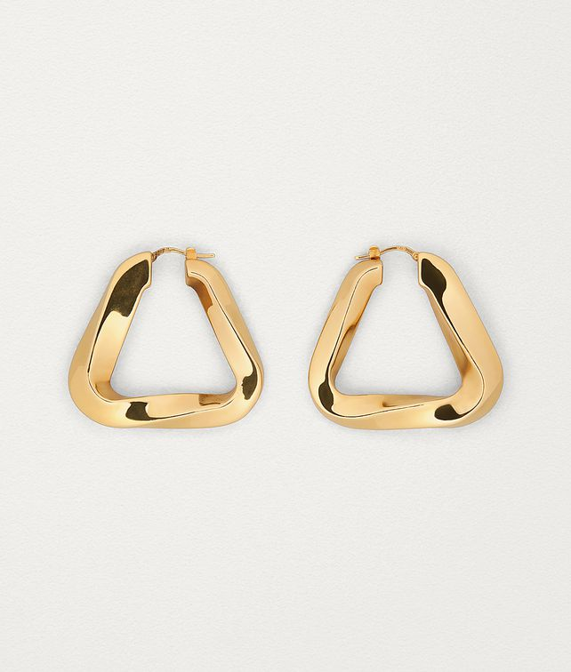 BOTTEGA VENETA EARRINGS IN GOLD PLATED SILVER Earrings Woman fp