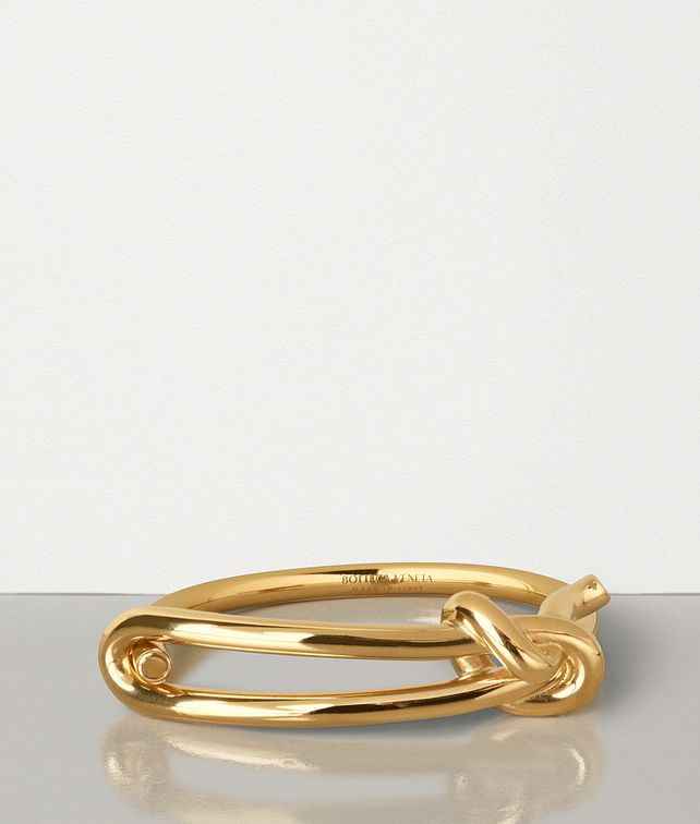 BOTTEGA VENETA BRACELET IN GOLD-PLATED SILVER Bracelet Man fp