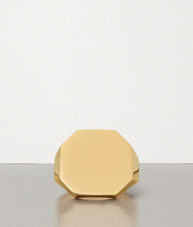 BOTTEGA VENETA RING IN GOLD-PLATED SILVER Ring Man fp