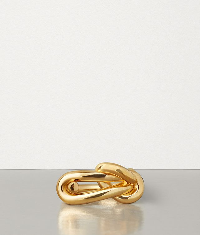 BOTTEGA VENETA RING IN GOLD PLATED SILVER Ring Man fp