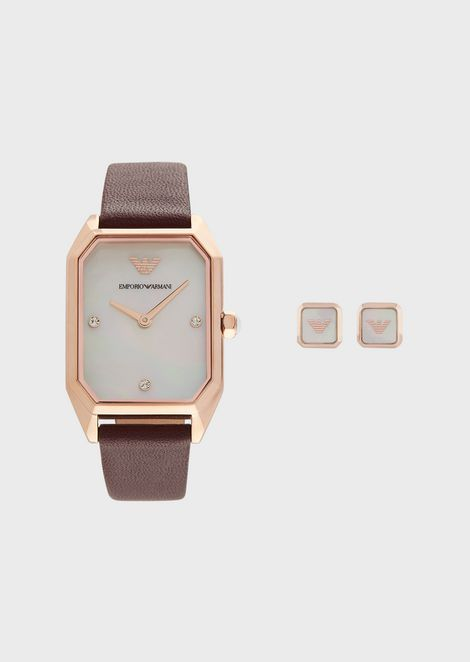 Leather Strap Watch