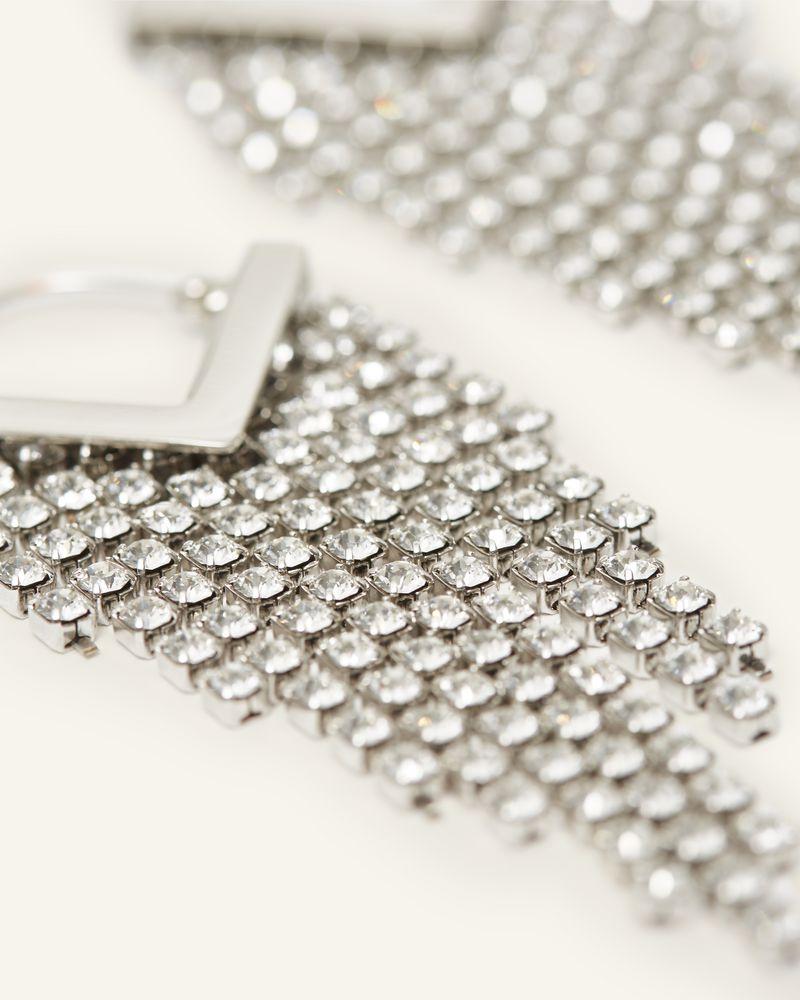 Boucles d'oreilles argentées  Ornées de cristaux Swarovski transparents ISABEL MARANT
