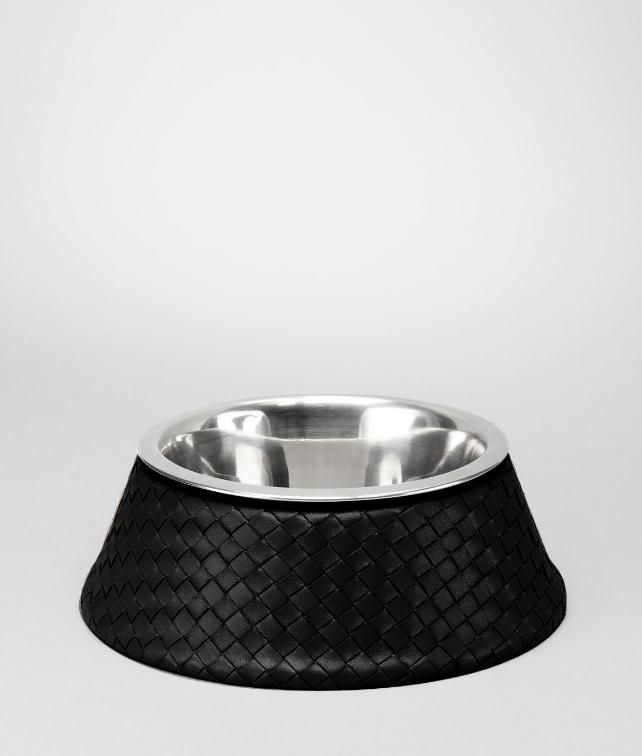 BOTTEGA VENETA Intrecciato VN Brushed Steel Dog Bowl Pet Accessory E fp