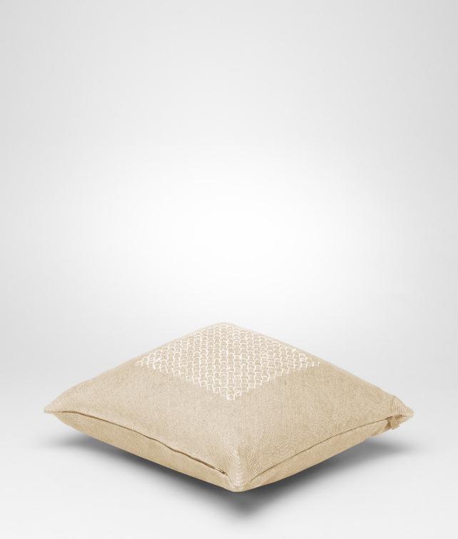 BOTTEGA VENETA Intrecciato Linen Pillow Pillow and blanket E fp