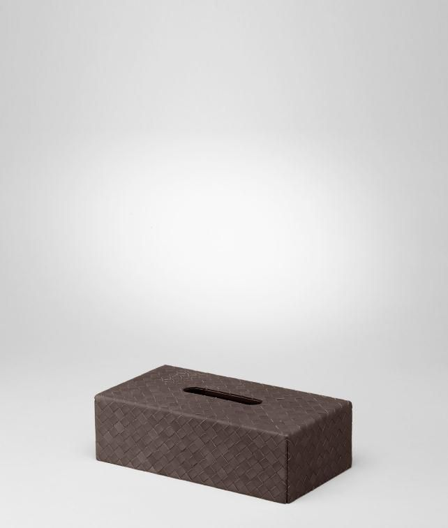 BOTTEGA VENETA Intrecciato Nappa Horizontal Tissue Box Desk accessory E fp