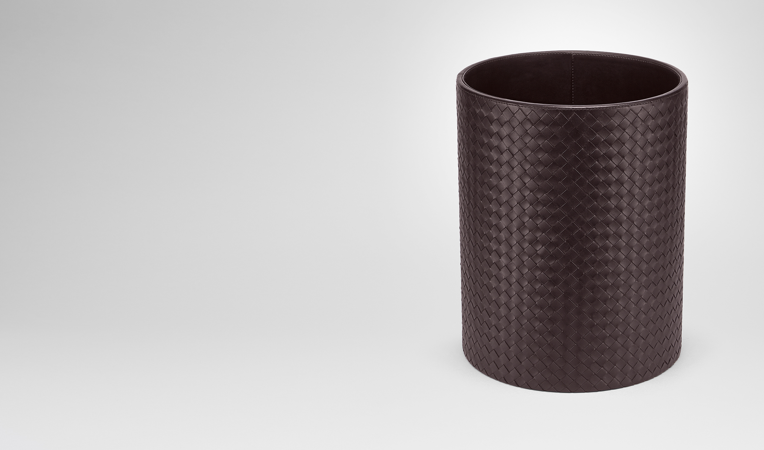 BOTTEGA VENETA Desk accessory E Ebano Intrecciato Nappa Waste Paper Basket pl