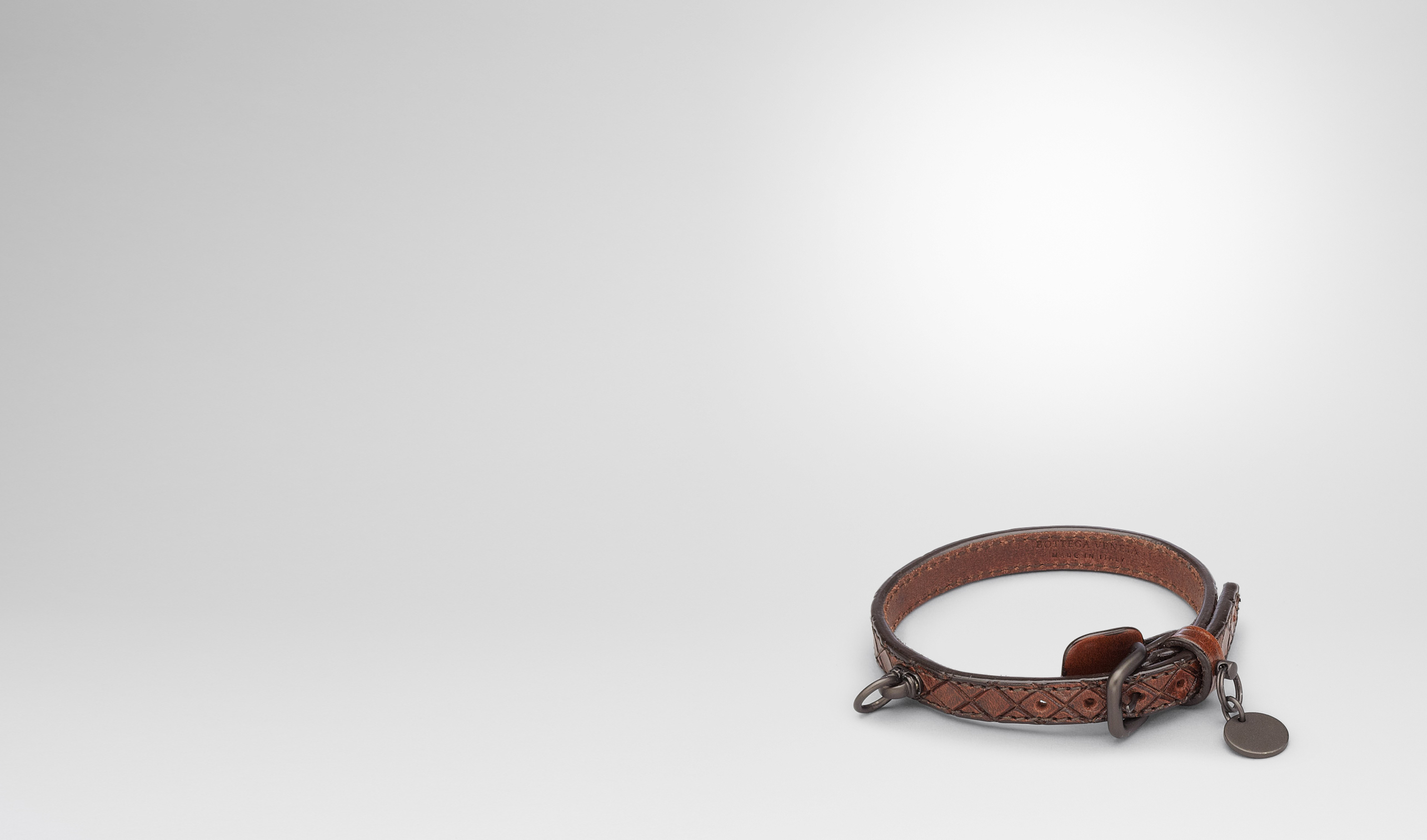 BOTTEGA VENETA Pet Accessory E Ebano Intreccio Scolpito Dog Collar pl