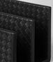 BOTTEGA VENETA PAPER HOLDER IN NERO INTRECCIATO NAPPA Desk accessory E ap