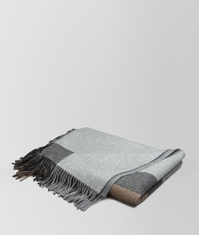 BOTTEGA VENETA BLANKET IN ANTHRACITE BLACK CASHMERE BLANKET E fp
