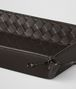 BOTTEGA VENETA ESPRESSO INTRECCIATO NAPPA LEATHER PEN TRAY Desk accessory E ap