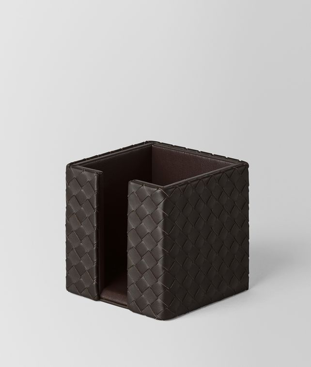 BOTTEGA VENETA MEMO PAPER HOLDER IN ESPRESSO INTRECCIATO NAPPA Desk accessory E fp