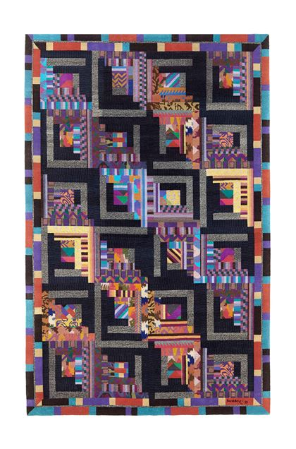 MISSONI HOME CONSTELLATION RUG   Purple E - Back