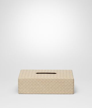 HORIZONTAL TISSUE BOX IN INTRECCIATO NAPPA