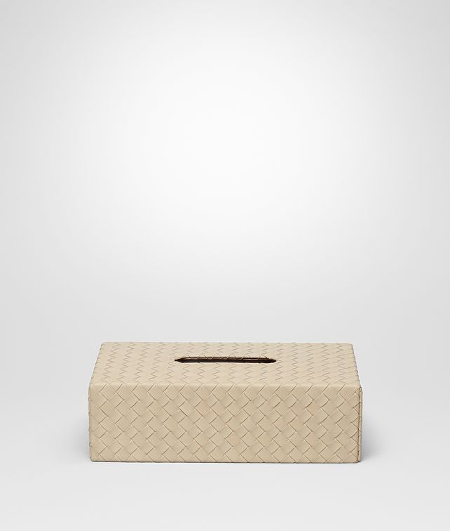 BOTTEGA VENETA TISSUE BOX IN PERGAMENA INTRECCIATO NAPPA Desk accessory E fp