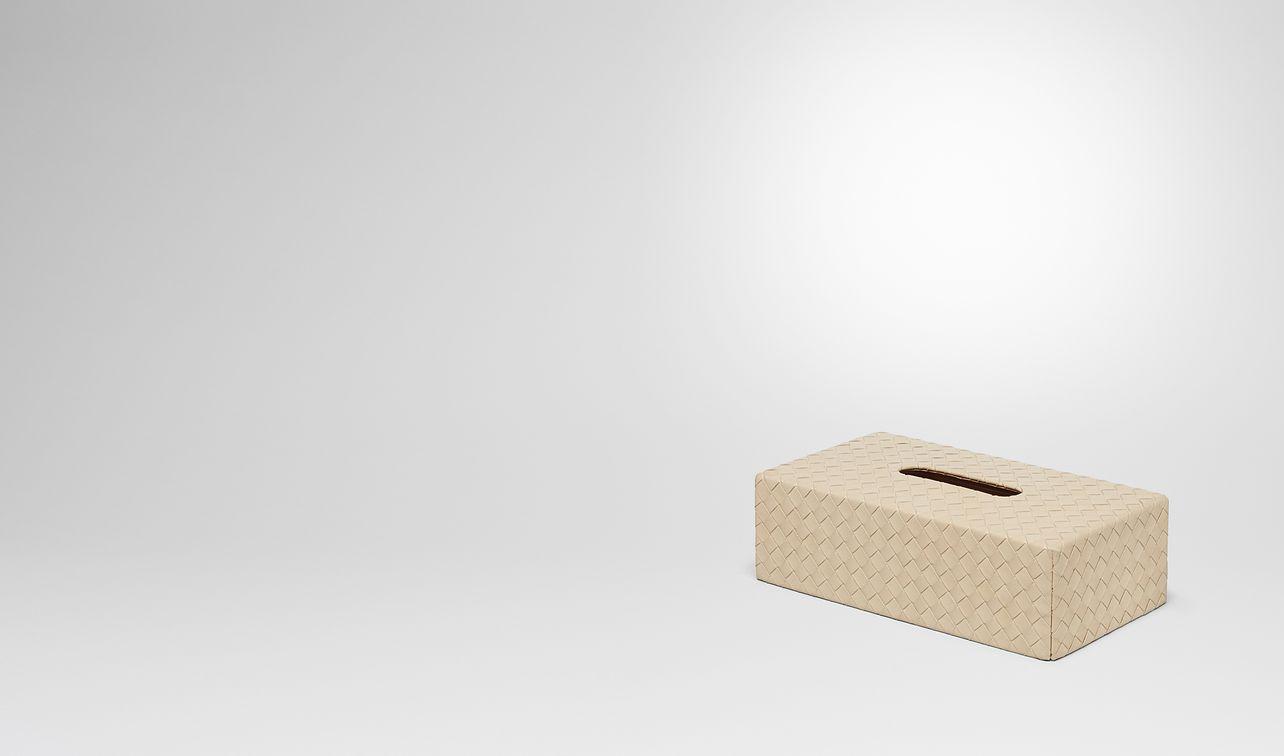 boîte à mouchoirs horizontale en cuir nappa intrecciato landing