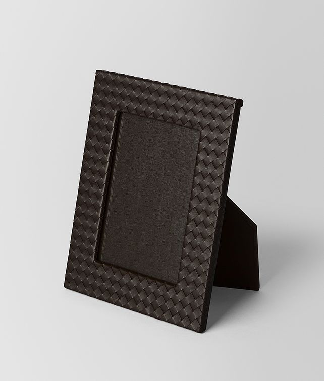 BOTTEGA VENETA ESPRESSO INTRECCIATO NAPPA LEATHER MEDIUM PHOTO FRAME Photo frame E fp