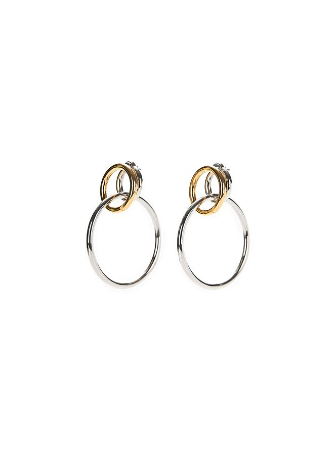 ALEXANDER WANG jewelry MIXED METAL TRIPLE HOOP EARRINGS