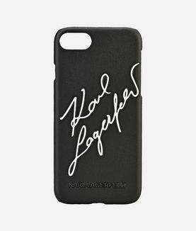 KARL LAGERFELD EMBOSSED SIGNATURE IPHONE 7 CASE