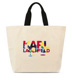 KARL LAGERFELD STEVEN WILSON CANVAS SHOPPER