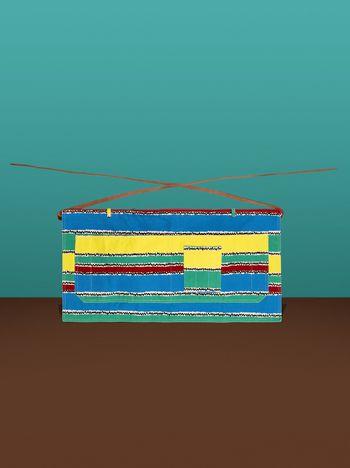 Marni Pinafore with Tropical Lines print Man