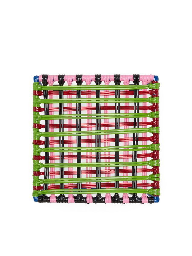 Marni MARNI MARKET green, red, black, pink, and pale blue table in metal  Man