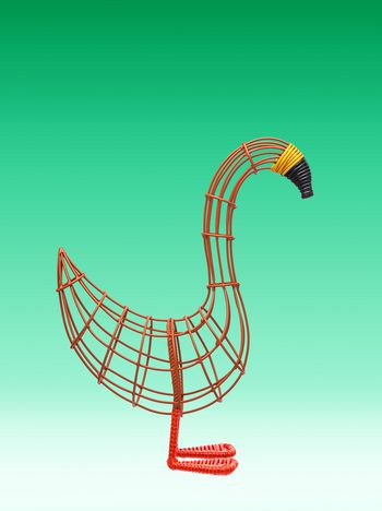 Marni Orange goose sculpture Man