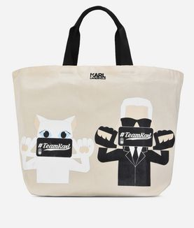 KARL LAGERFELD K/PHOTO CANVAS SHOPPER