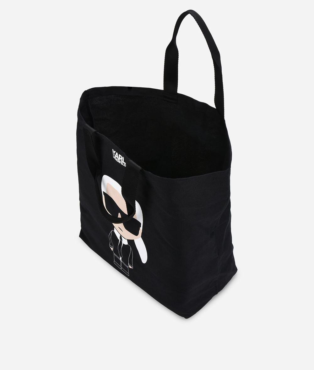 KARL LAGERFELD K/Ikonik Canvas Tote Bag Canvas Shopper Woman d