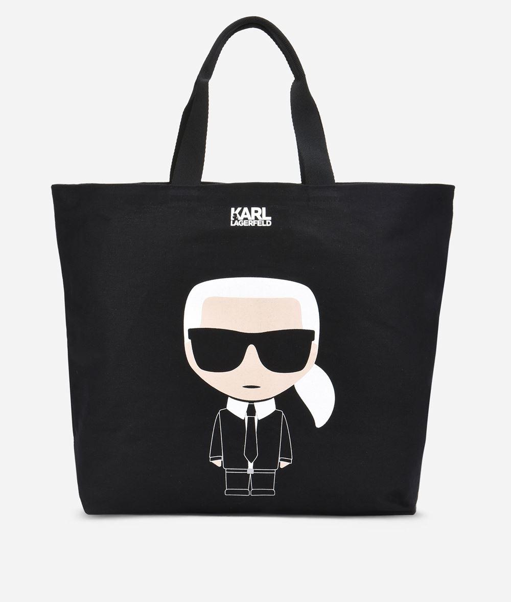 KARL LAGERFELD K/Ikonik Canvas Tote Bag Canvas Shopper Woman f