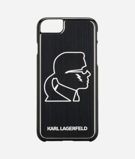 KARL LAGERFELD KARL HEAD BLACK ALUMINUM IPHONE 7 CASE