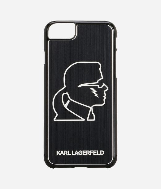 KARL LAGERFELD Karl Head Black Aluminum iPhone 7 Case 12_f