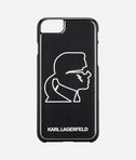 Custodia per iPhone 7 Karl Head in Alluminio Nero