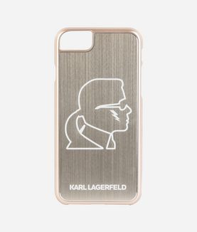 KARL LAGERFELD KARL HEAD GOLD ALUMINUM IPHONE 7 CASE
