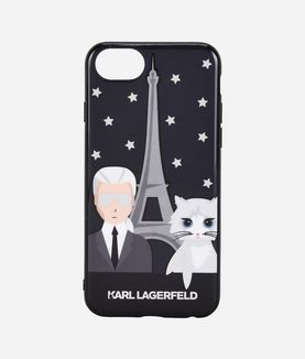 KARL LAGERFELD CHOUPETTE & KARL IN PARIS IPHONE 7 CASE