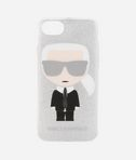 Karl Ikonik silver glitter iPhone 7 Case