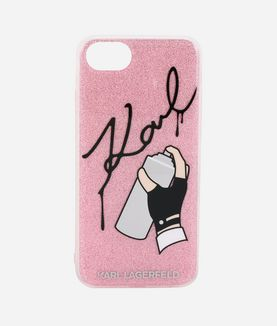 KARL LAGERFELD GRAFFITI SIGNATURE IPHONE 7 CASE