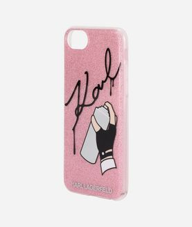 KARL LAGERFELD IPHONE 7 CASE MIT GRAFFITI-SIGNATUR