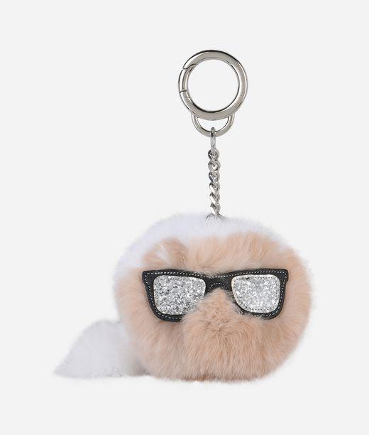 KARL LAGERFELD K/Ikonik Fur Keychain 12_f