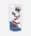 Liquid glitter case Karl Captain Icons