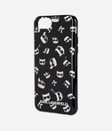 Karl Iconic Emojis TPU case Black
