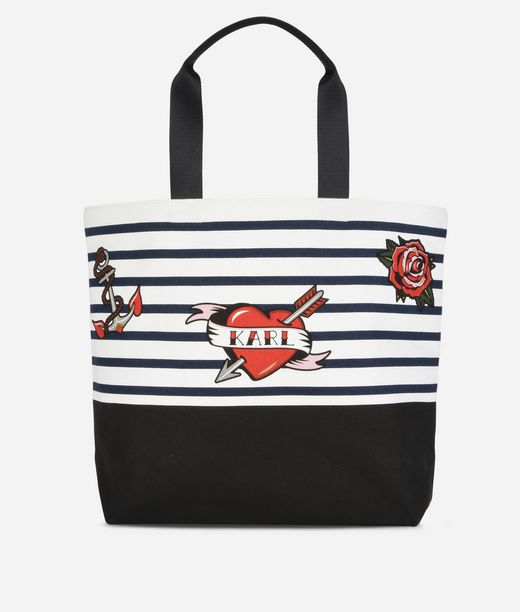 KARL LAGERFELD Kaptain Karl Shopper aus Canvas 12_f