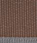 anthracite dark brown cashmere dagan blanket Front Detail Portrait