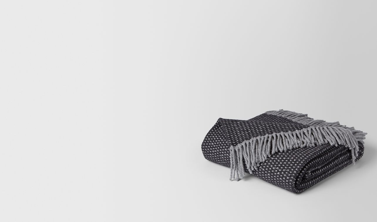 anthracite black cashmere dagan blanket landing