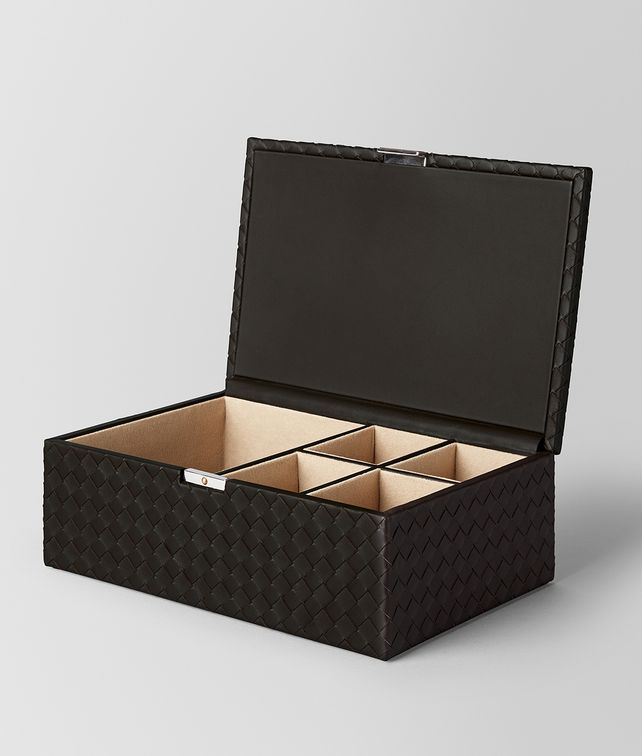 BOTTEGA VENETA ESPRESSO INTRECCIATO NAPPA LEATHER JEWELRY BOX BOXES E fp