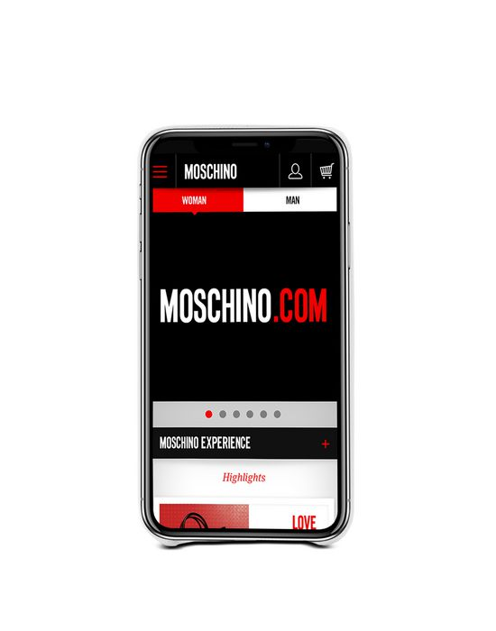 iPhone X Woman MOSCHINO