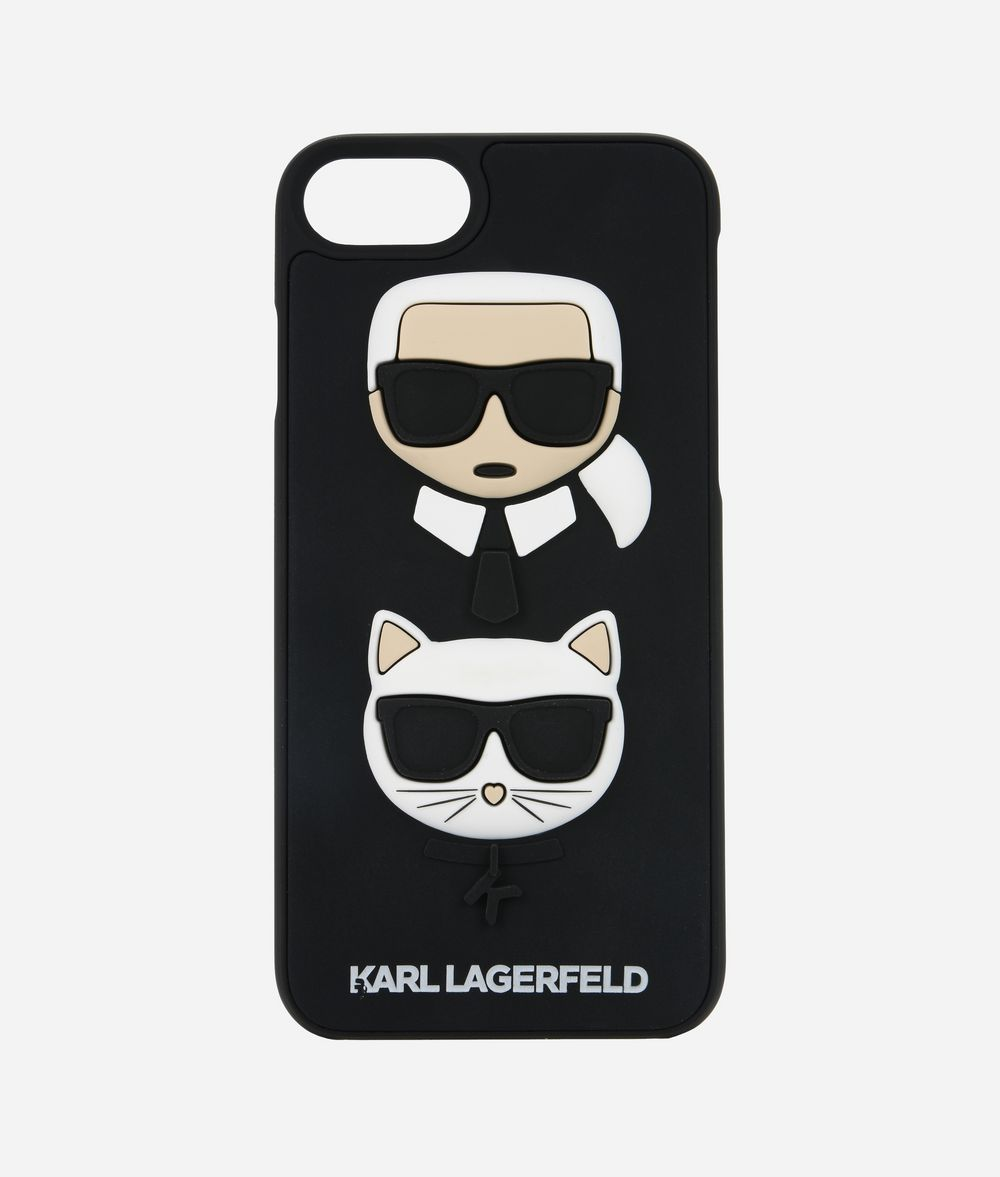 KARL LAGERFELD Karl and Choupette Ikonik new rubber iPad/iPhone Case Woman f